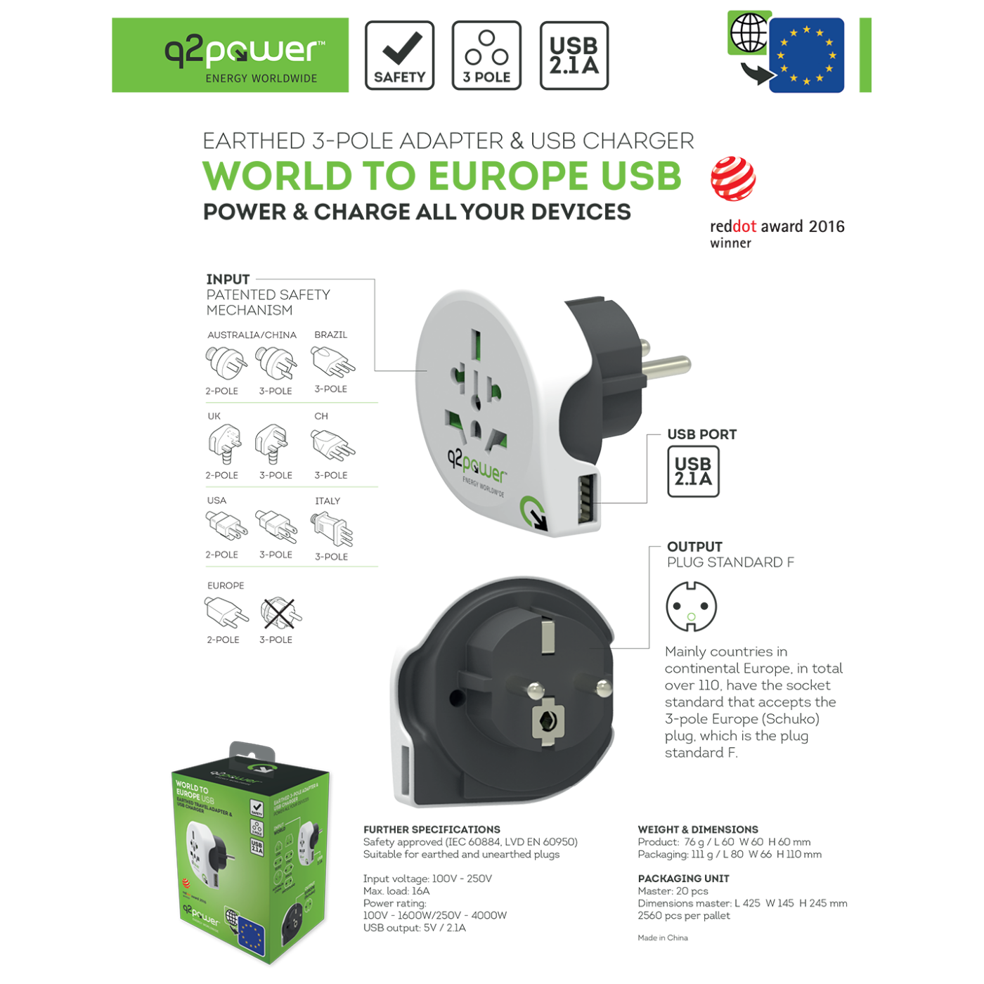 WORLD TO EUROPE USB