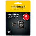 (Intenso) - SDHCmicro+ad-8GB/Class10