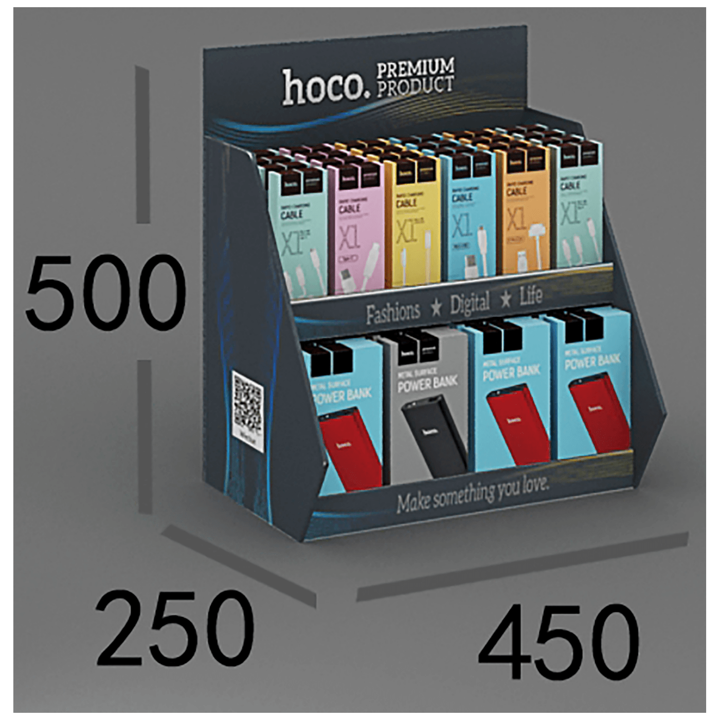 Promotional desktop carton shelf3.0